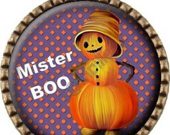 Bronze pendant Cabochon - Mr Halloween (635)