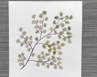Sweetened - Original Watercolor Painting, Watercolour Art, Artwork, Leaf Painting, Minimalistic Art, Wall Decor