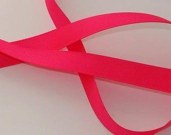 5 m satin ribbon 16mm wide Fuchsia grosgrain Ribbon