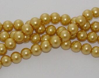 10 diameter 14mm yellow Pearl glass beads