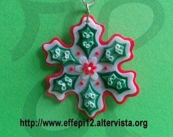 Snowflake shaped Christmas decoration