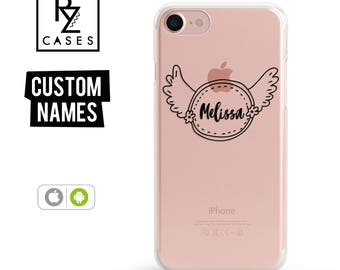 Custom Phone Case, Personalized Case, iPhone 7 Case, Angel Wings, iphone case, iphone 6, Personalized Gift for Her, Custom Name, iPhone 6s