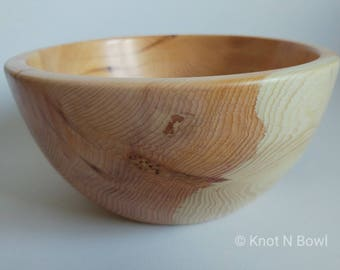 Handcrafted Yew bowl