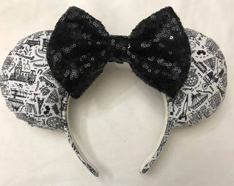 Park Icons Disney Inspired Minnie Mouse Ears