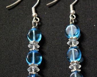 Stylish Blue Earrings
