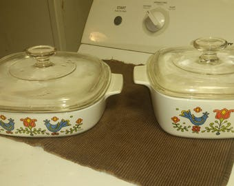 Country Festival Corning ware serving dishes