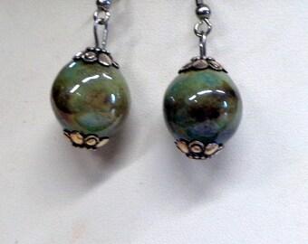"Pearl Earrings ceramic ""effect"""