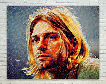 Kurt Cobain - Kurt Cobain Poster,Kurt Cobain West Art,Kurt Cobain Print,Kurt Cobain Poster,Kurt Cobain Merch,Kurt Cobain Wall Art,Kurt Cobai