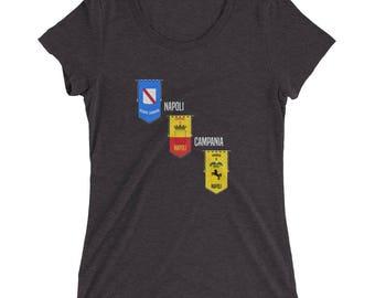 Ladies' Napoli Campania t-shirt Naples, Italy Shirt Italian Crest Tee