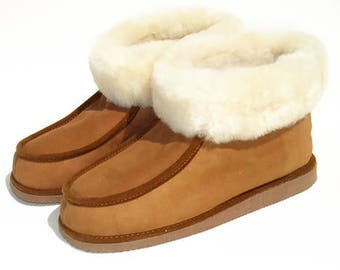 High fur Sheepskin Shearling lined boots