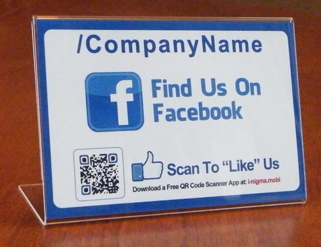 Custom Social Media Acrylic Display Table Tents, Clear Plastic Table Menu  Stand,Acrylic Sign