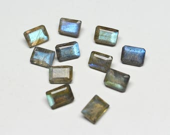 Natural Labradorite Faceted Octagon SIZE- 7x5 MM, 10 PCs Fire Labradorite gemstone in Wholesale Price HL47