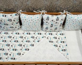 Birds Baby Bedding - Crib Bedding Set - Nursery Bedding - Crib Bedding - Baby Bedding - Baby Sheets,