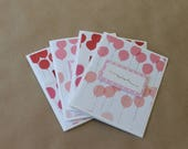 Red & Pink Balloon Cards (4)