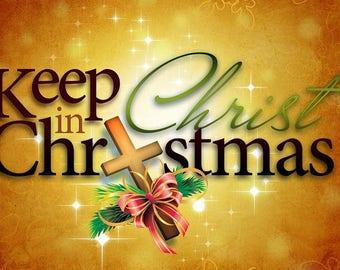 Keep CHRIST in Christmas  2.5 x 3.5 Fridge Magnet