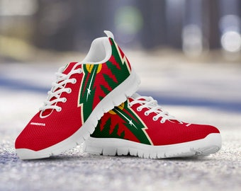 Minnesota Wild Custom Running Shoes/Sneakers/Trainers - Ladies + Mens Sizes
