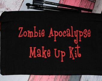 Zombie Apocalyse Make up cosmetic  bag
