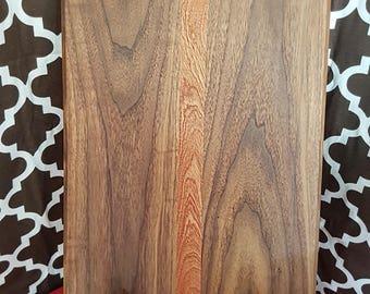 12x18 walnut and sapele cutting board.