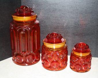 Vintage Ambernina 3pc. Canister Set