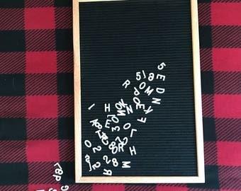 Black Felt Letter Board 12' x 18' | IN STOCK | 298 letters included