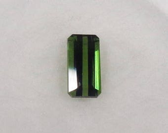 Green Tourmaline .57ct Loose Natural Octagon Cut Faceted Gemstone