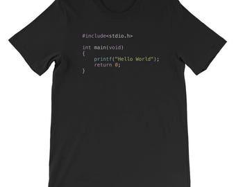 Hello World Programming Shirt - C