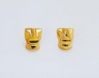 Gold earrings,Christmas gift,post earrings,Gift for her,stud earrings,Gift,Gold stud earrings,18k,18k earrings,Minimal earrings