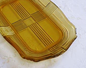 Amber Glass Dish