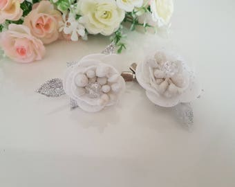 Set of 2 hair clips,flower headpiece, flower girl gift, hair accessories,blossom headpiece,hair flower,Floral Accessories,hair clips,gift