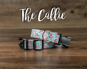 The Callie - Fabric Dog Collar - Adjustable Collar - Custom Fabric