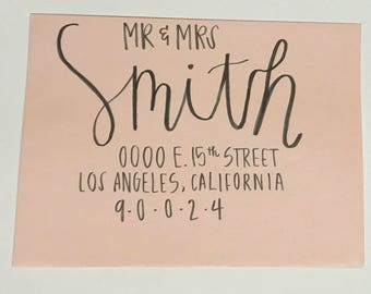 Hand Lettered Envelopes// Wedding, Special Event