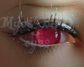 12mm Neon pink acrylic eyes