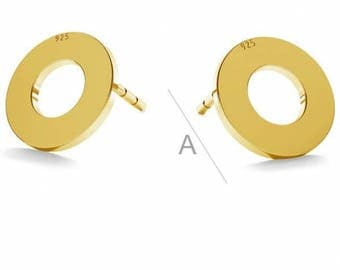Sterling silver circle earrings,Circle earrings,Valentine's day gift,Sterling silver earrings gold filled,Love earrings,Gift for her/him