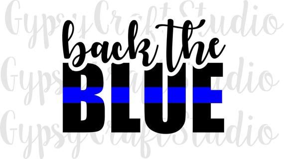 Back The Blue Thin Blue Line Police Badge Cop SVG PNG