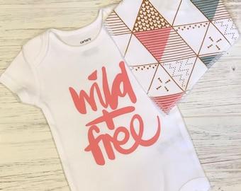 Wild & Free Onesie/Baby Onesie T-Shirt/Wild and Free