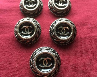 Chanel 5 Buttons, Chanel Ring, Chanel Pendant