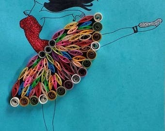 Decor home with this dancing girl quilling art