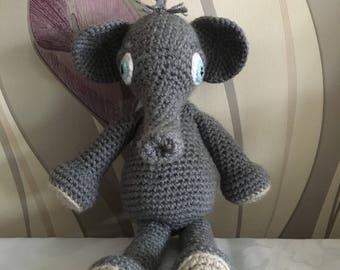 Elephant toy, elephant amigurumi, elephant cuddly toy, elephant plush, soft toy, elephant teddy