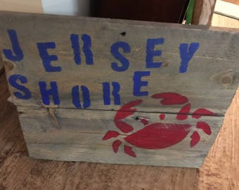 Jersey Shore and a red crab!