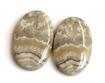 Crazy Lace Agate Oval Pair Cabochon,Size- 23x14 MM, Natural Crazy Lace Agate , AAA,Quality  Loose Gemstone, Smooth Cabochons.