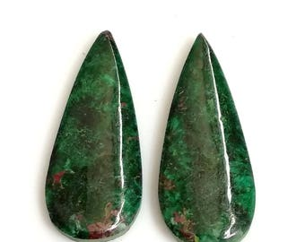 Chrysocolla Pear Pair Cabochon,Size- 29x13 MM, Natural Chrysocolla, AAA,Quality  Loose Gemstone, Smooth Cabochons.