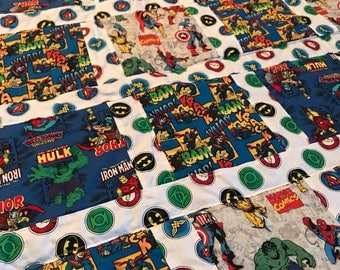Marvel and DC Comics toddler quilt