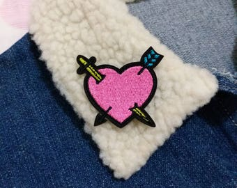 Heart Patch, Iron on Patch