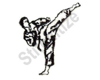 Karate Kick - Machine Embroidery Design, Karate, Kick