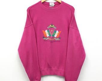 Rare!!Vintage Enrico Covery big logo spellout embroidery sweatshirt Pullover Jumper Sweater Hip Hop Swag Rap Sport
