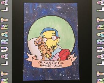 Milhouse postcard