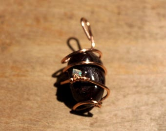 wire wrapped garnet