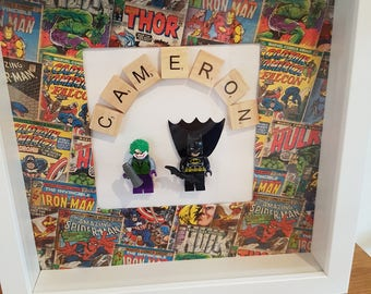 Boys superhero frame