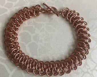 Rose Gold Plated Arkham Chainmaille Bracelet