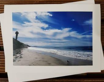 Beach scene greeting card, blank card, ocean photography